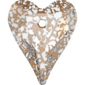 Pandantiv Swarovski 6240 WILD HEART PENDANT Crystal Rose Patina (001 ROSPA) 17 mm
