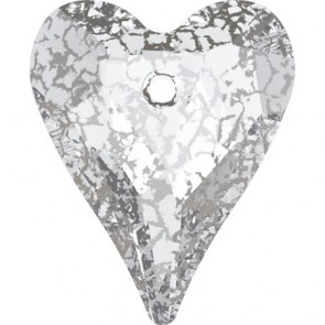Pandantiv Swarovski 6240 WILD HEART PENDANT Crystal Silver Patina (001 SILPA) 17 mm