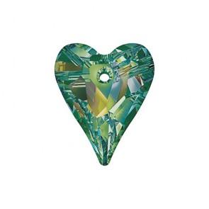 Pandantiv Swarovski 6240 WILD HEART PENDANT Crystal Vitrail Medium P (001 VM) 17 mm