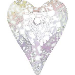 Pandantiv Swarovski 6240 WILD HEART PENDANT Crystal White Patina (001 WHIPA) 17 mm