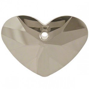 Pandantiv Swarovski 6260 CRAZY 4 U HEART Crystal Satin (001 SATIN) 17 mm