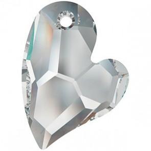 Pandantiv Swarovski 6261 DEVOTED 2 U HEART Crystal Comet Argent Light V P (001 CAV) 27 mm