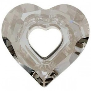 Pandantiv Swarovski 6262 MISS U HEART Crystal Satin (001 SATIN) 26 mm