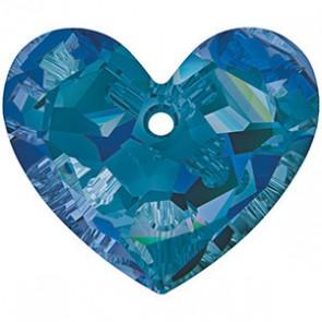 Pandantiv Swarovski 6264 TRULY IN LOVE HEART Crystal Bermuda Blue P (001 BB) 28 mm