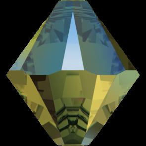 Pandantiv Swarovski 6328 XILION BICONE PENDANT Crystal Iridescent Green (001 IRIG) 6 mm