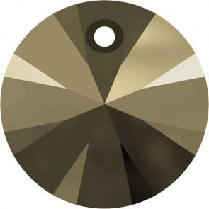 Pandantiv Swarovski 6428 XILION PENDANT Crystal MetallicLightGold 2x (001 MLG2) 6 mm
