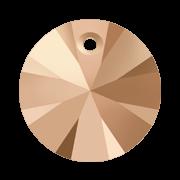 Pandantiv Swarovski 6428 XILION PENDANT Crystal Rose Gold 2x (001 ROGL2) 6 mm