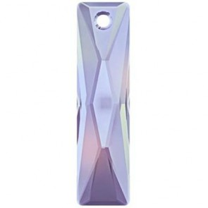 Pandantiv Swarovski 6465 QUEEN BAGUETTE PENDANT Crystal Vitrail Light P (001 VL) 25x7 mm
