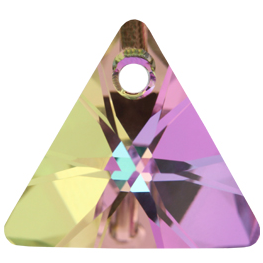 Pandantiv Swarovski 6628 XILION TRIANGLE PENDANT Crystal Vitrail Light P (001 VL) 8 mm