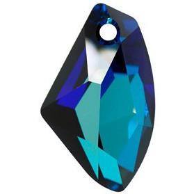 Pandantiv Swarovski 6656 GALACTIC VERTICAL Crystal Bermuda Blue P (001 BB) 19 mm