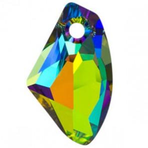 Pandantiv Swarovski 6656 GALACTIC VERTICAL Crystal Vitrail Medium P (001 VM) 19 mm