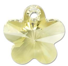 Pandantiv Swarovski 6744 FLOWER PENDANT Jonquil (001) 12 mm - Floare