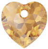 Pandantiv Swarovski 6432 HEART CUT PENDANT Light Colorado Topaz (246) 14,5 mm