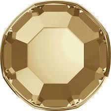Cristale Swarovski cu spate plat No Hotfix 2000 Crystal Golden Shadow F (001 GSHA) SS 3 - de lipit
