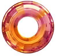Pandantiv Swarovski 6039 DISK PENDANT Crystal Astral Pink (001 API) 38mm