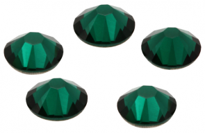 Cristale Swarovski cu spate plat No Hotfix 2058 Emerald (205) SS 9 - de lipit
