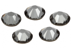 Cristale Swarovski cu spate plat No Hotfix 2058 Crystal Silver Night F (001 SINI) SS 12
