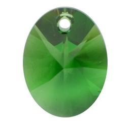 Pandantiv Swarovski 6028 XILION OVAL PENDANT Dark Moss Green (260) 10 mm