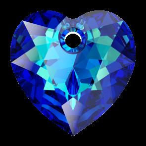Pandantiv Swarovski 6432 HEART CUT PENDANT Bermuda Blue 14,5 mm