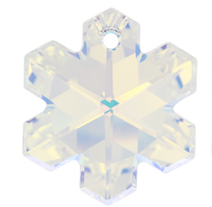 Pandantiv Swarovski 6704 SNOWFLAKE Crystal AB (001 AB) 20 mm - Fulg de Nea