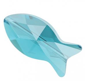 MARGELE SWAROVSKI 5727 Fish Bead Light Turquoise (263) 14 mm