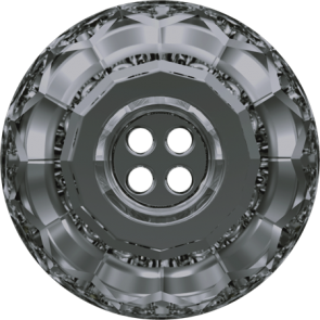Nasturi Swarovski 3008 Crystal Silver Night (001 SINI) 14 mm