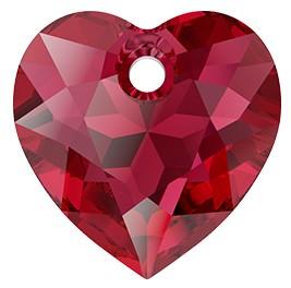Pandantiv Swarovski 6432 HEART CUT PENDANT Scarlet (276) 14,5 mm