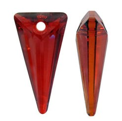 Pandantiv Swarovski 6480 SPIKE PENDANT Crystal Red Magma (001 REDM) 18 mm