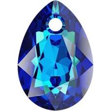 Pandantiv Swarovski 6433 Pear Cut Pendant Bermuda Blue 16 mm