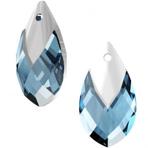 Pandantiv Swarovski 6565 Pear-shaped Pendant Aquamarine Light Chrome Z MCI (001 LTCHZ)
