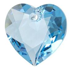 Pandantiv Swarovski 6432 HEART CUT PENDANT Aquamarine 14,5 mm