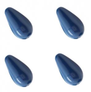 PERLE PRECIOSA Pearshape Pearl 1H 15x8 mm Navy Blue