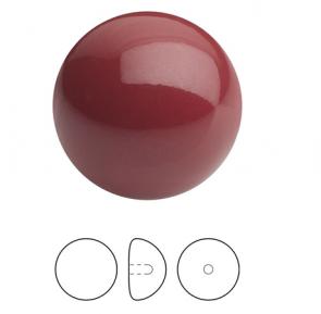 PERLE PRECIOSA Button Pearl 1/2H 8 mm ROSU / Cranberry