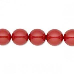 Perle Swarovski 5810 Crystal Red Coral Pearl (001 718) 10 mm