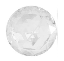 Cristale Swarovski cu spate plat No Hotfix 2072 Crystal F 12 mm - Rose Cut FB