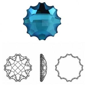 Cristale Swarovski cu spate plat si lipire la rece 2612 Crystal Bermuda Blue F (001 BB) 14 mm;