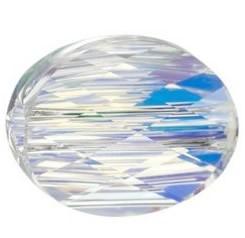 Margele Swarovski 5051 Crystal AB (001 AB) 8 x 6 mm - Mini Oval Bead