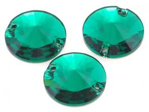 Cristale Swarovski De Cusut 3200 Emerald 10 mm